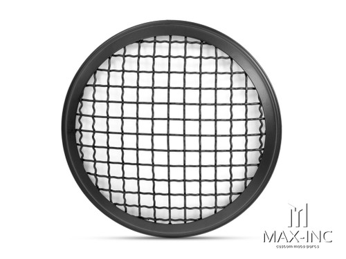 "5.75"" Black Mesh Grill Metal Headlight Cover"