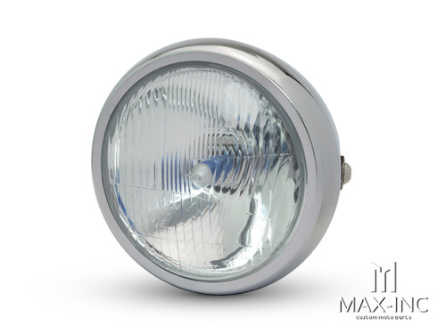 "6"" Chrome Universal Metal Classic Headlight"