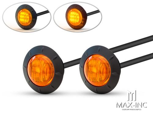 "2"" Flush Mount Sealed LED Running Lights / Turn Signals - Set Of 2"