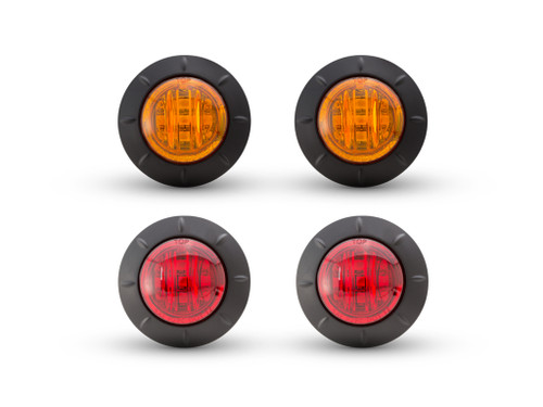 "2"" Flush Mount LED Running / Turn / Tail / Stop Lights - Set Of 4"