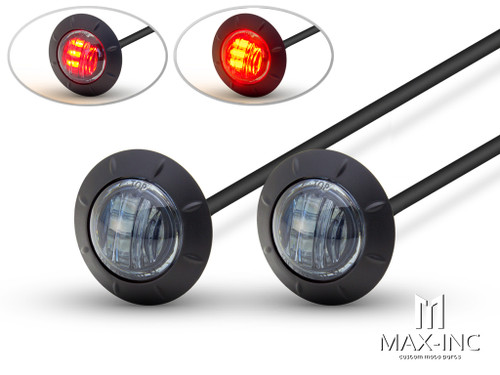"2"" Flush Mount Smoked Lens LED Stop / Tail Lights - Set Of 2"