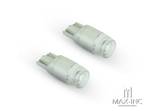 White 12v / T10 W5W LED Projector Bulbs - Pair