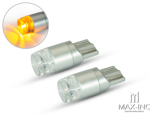 Amber 12v / T10 W5W LED Projector Bulbs - Pair