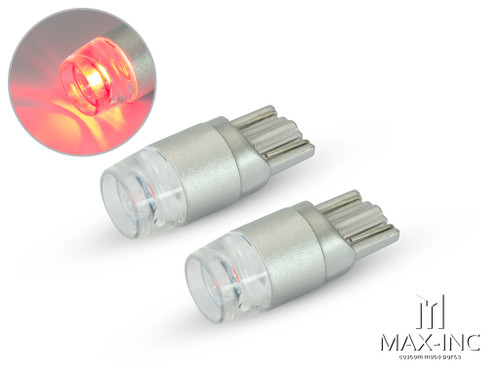 Red 12v / T10 W5W LED Projector Bulbs - Pair