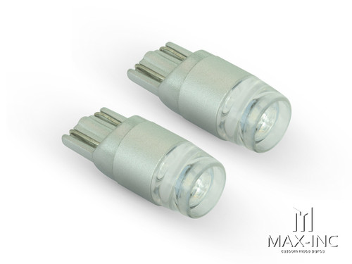 Green 12v / T10 W5W LED Projector Bulbs - Pair