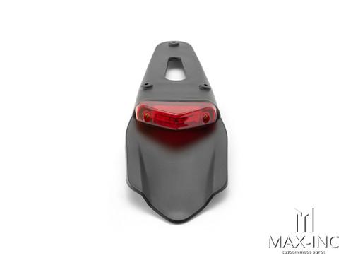 Universal Supermoto Rear Fender LED Stop / Tail Light - Red Lens
