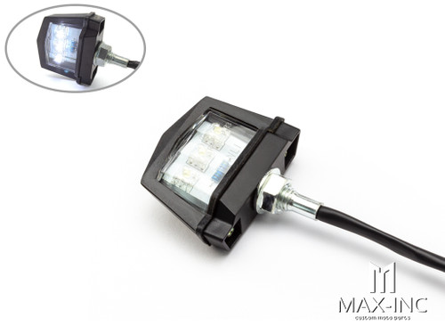 Black Universal Bolt On LED License Plate Light - Emarked
