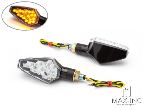 Black Full Size LED Turn Signals / Indicators - Emarked