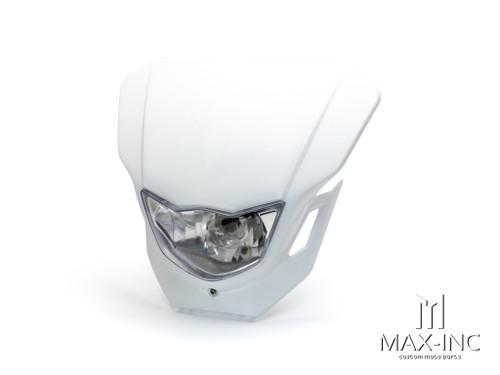 White Universal Supermoto Headlight Mask - 12v/35w
