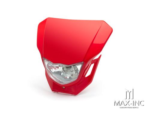 Red Universal Supermoto Headlight Mask - 12v/35w