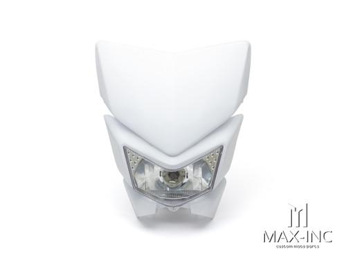 White Beasty Universal Supermoto Headlight Mask - 12v/35w