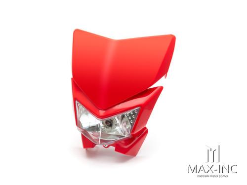 Red Beasty Universal Supermoto Headlight Mask - 12v/35w