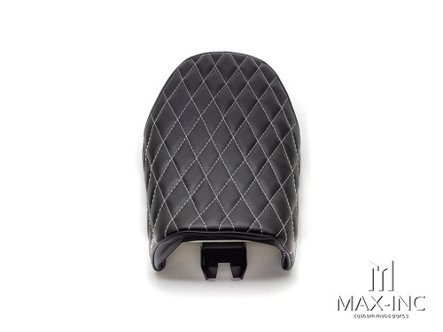 Black Diamond Stitch Universal Scrambler Motorcycle Seat