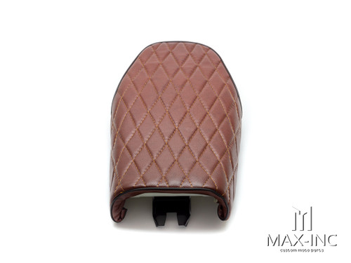 Brown Diamond Stitch Universal Scrambler Motorcycle Seat