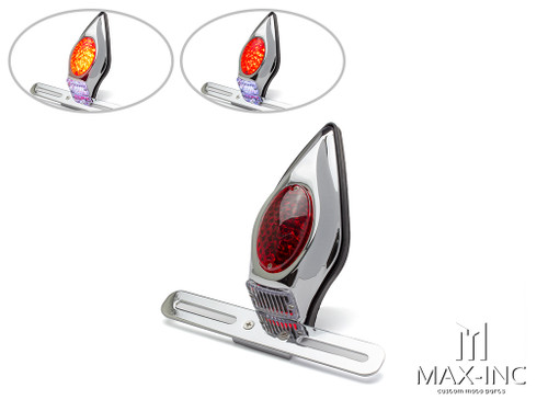 Chrome Alloy Tombstone LED Stop / Tail Light