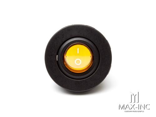 Orange Universal Dash / Panel Mount 12v LED ON/OFF Switch