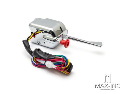 Chrome 12v Universal Column Mount Custom Turn Signal / Hazard Switch