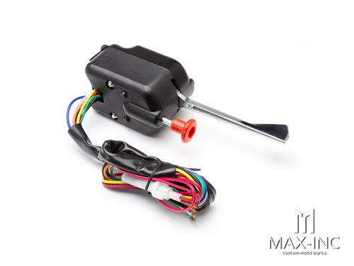 Black 12v Universal Column Mount Custom Turn Signal / Hazard Switch
