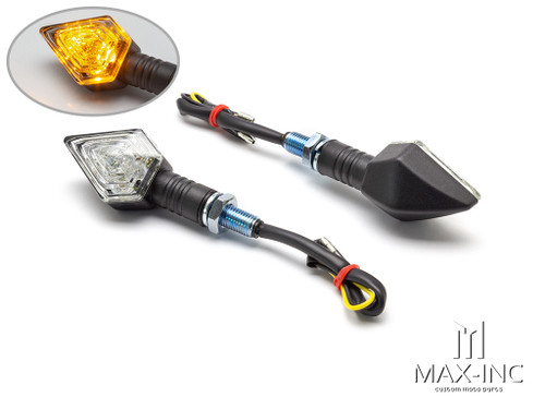 Black Diamond Shape Mini LED Turn Signals / Indicators - Emarked