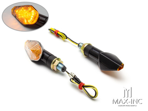 Black Apollos Mini LED Turn Signals / Indicators - Emarked