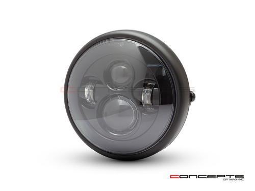 "7.7"" Matte Black Shorty Multi Projector LED Headlight"