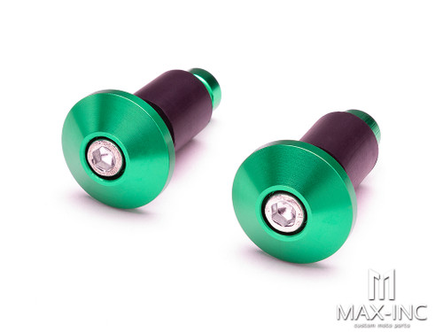 "Green Anodized CNC Machined Aluminum Bar Ends - 7/8""(22mm)"