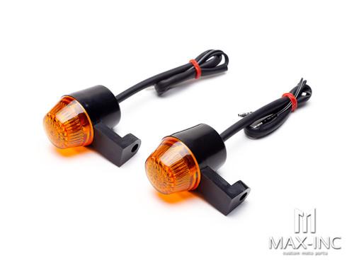 Black Flexible Silicone Mini Halogen Bulb Turn Signals / Indicators