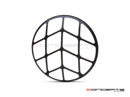 "Spyder Grill Design 7"" Black CNC Aluminum Headlight Guard Cover"