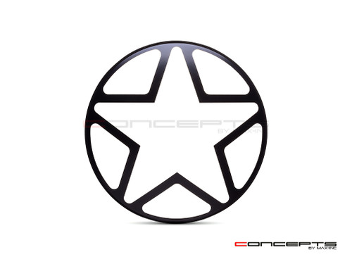 "Big Star Grill Design 7"" Black CNC Aluminum Headlight Guard Cover"