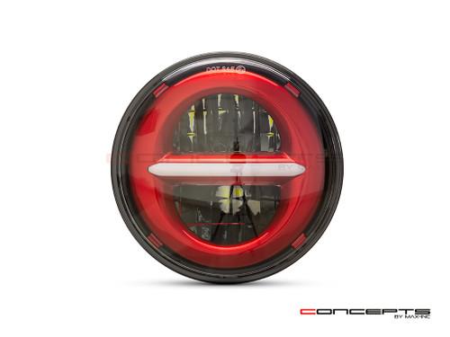 "5.75"" Red Classic / Modern LED Headlight Insert"