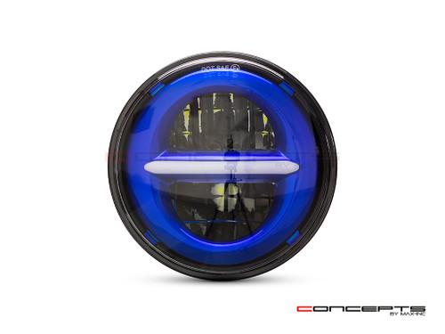 "5.75"" Blue Classic / Modern LED Headlight Insert"