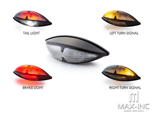 Universal Stryker Black LED Integrated Stop / Tail Light / Turn Signals