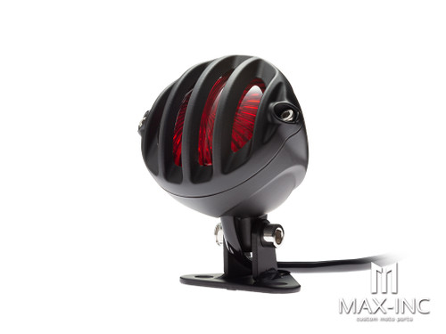 Matte Black Cage Grill Alloy Fender Mount LED Stop / Tail Light