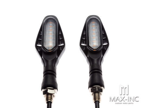 Black Cobra Integrated LED Sequential Turn Signals + Stop / Tail Lights