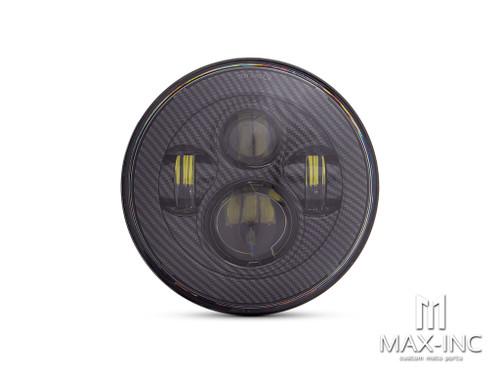 "7"" Projector LED Headlight Insert - Carbon Fiber Pattern Face"