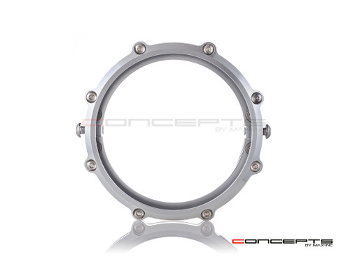 MONZA 5.75 Inch CNC Machined Aluminum LED Headlight Surround - Polished