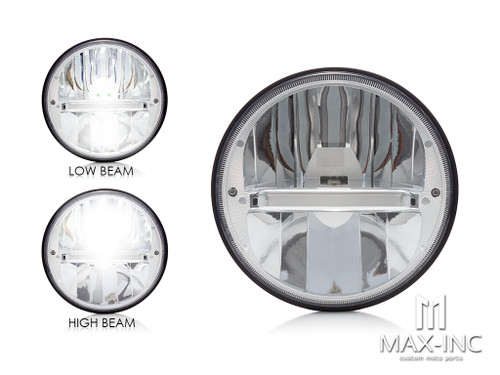 "7"" Chrome Classic Reflector Type LED Headlight Insert"