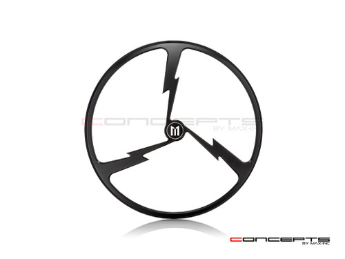 "7"" Tri-Bolt Grille Design Black CNC Aluminum Headlight Guard Cover"