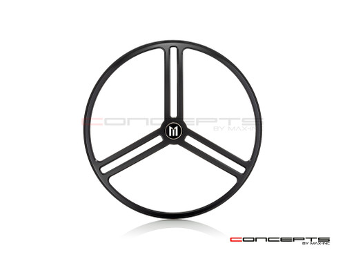 "7"" Tri-Pro Grille Design Black CNC Aluminum Headlight Guard Cover"