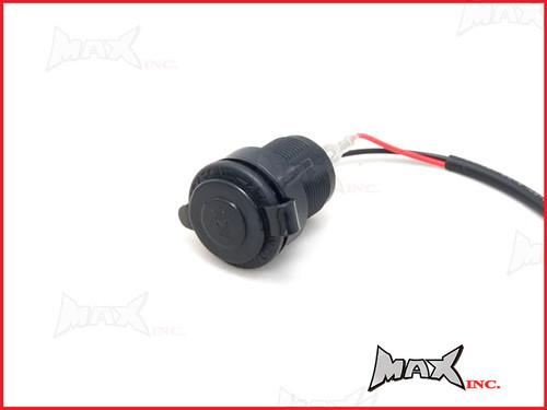 Universal 12v Fairing / Flush Mount Cigarette Lighter Power Socket