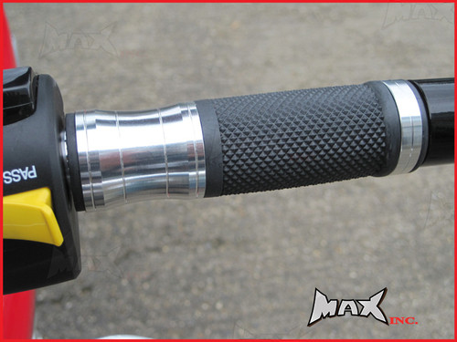 SILVER CNC Machined Aluminium / Rubber Grips - 7/8