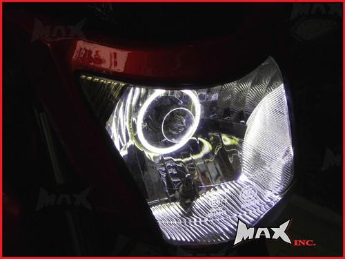 7cm White Super Bright LED Angel Eye Halo Ring