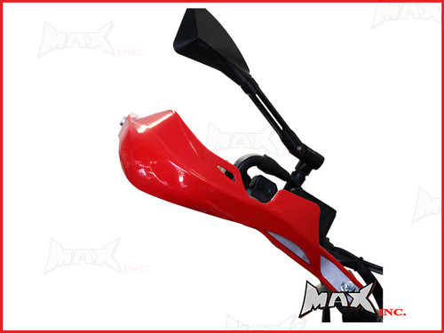 High Quality Red Plastic / Aluminium Hand Guards - Fits 7/8 Bars