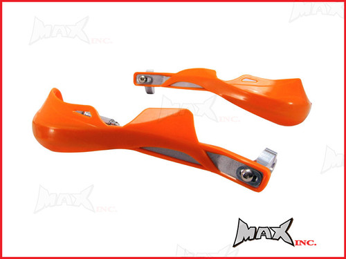 High Quality Orange Plastic / Aluminium Hand Guards - Fits 7/8 Bars