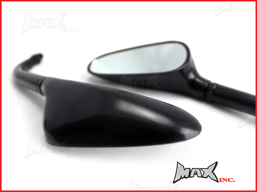 Pair Of Universal Black Golf Club Mirrors - 10mm Right & Reverse Thread Set