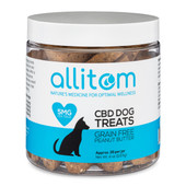 allitom allitom Grain Free Peanut Butter Flavor Heart Dog Treats