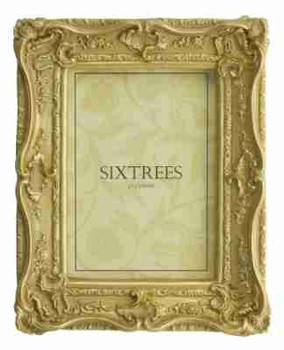 Sixtrees Chelsea 5-250-57 Shabby Chic Style Very Ornate Gold Photo 7x5 inch Frame.thumb