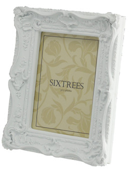 Sixtrees Chelsea 5-254-57 Shabby Chic Style Very Ornate White Photo 7x5 inch Photo Frame