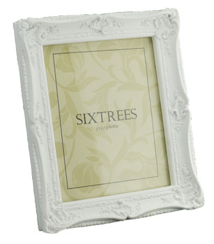 Sixtrees 5-254-80 Shabby Chic Style Very Ornate White Photo Frame for a 10x8 inch Picture