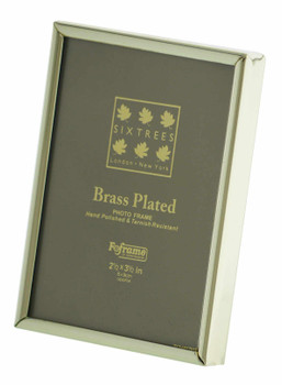Sixtrees 1-400-23 2.5 x 3.5-inch Hartford  Brass Plated Photo Frame